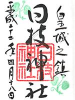 日枝神社 朱印